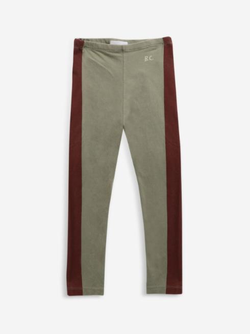 【Bobo Choses】 Maroon stripes legging