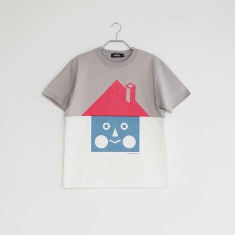 《STORE》家T-シャツ / BASIC HOUSE / ライトグレー × バニラ / M(大人)