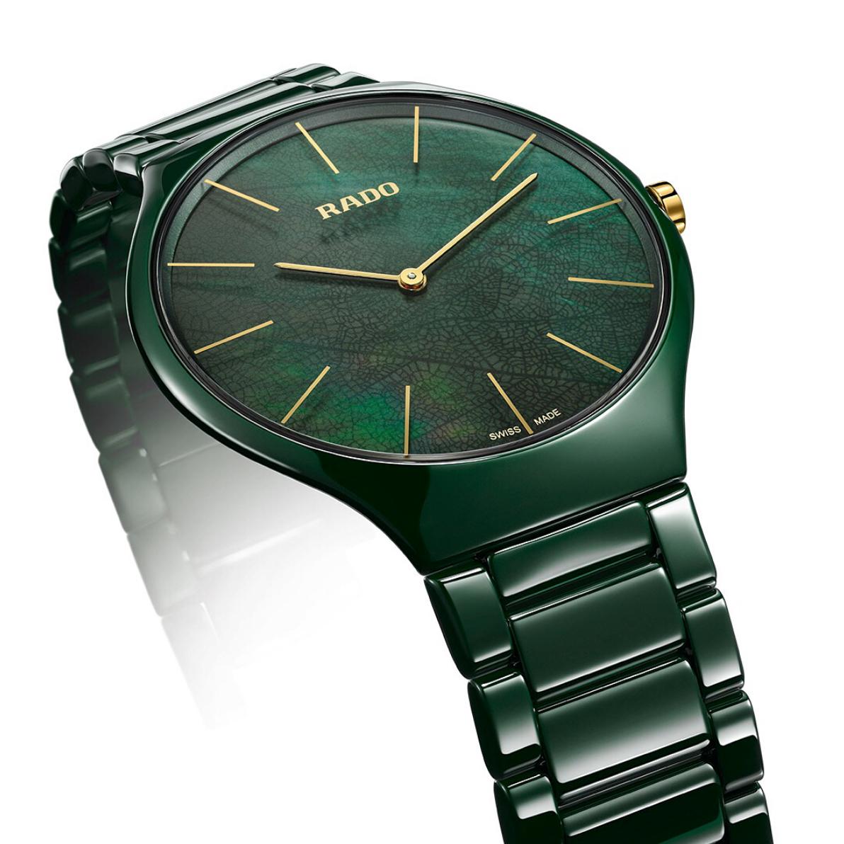 【RADO ラドー】True Thinline Leaf トゥルーシンライン(リーフグリーン)/国内正規品 腕時計