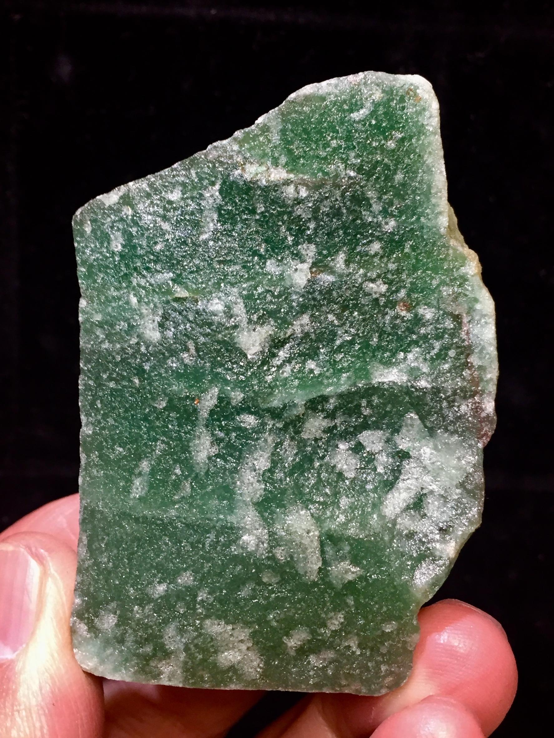 2) グリーン・アベンチュリン原石