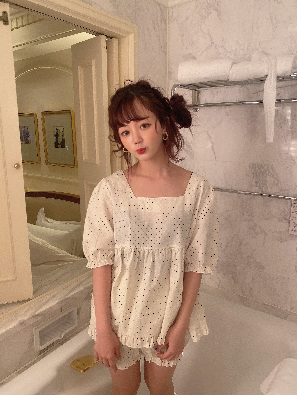 【LAST1】mini dot room wear