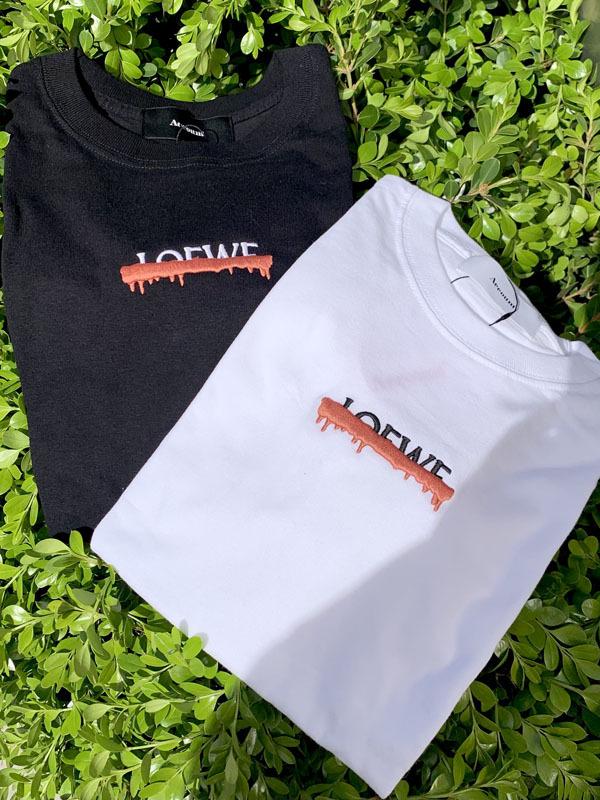 LパロディTシャツ/[Color:ホワイト/ブラック]