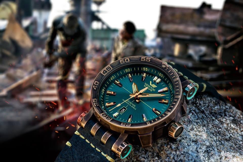 【VOSTOK EUROPE ボストークヨーロッパ】ENERGIA Bronze/エネルギア ブロンズ(ブルー)/国内正規品 腕時計