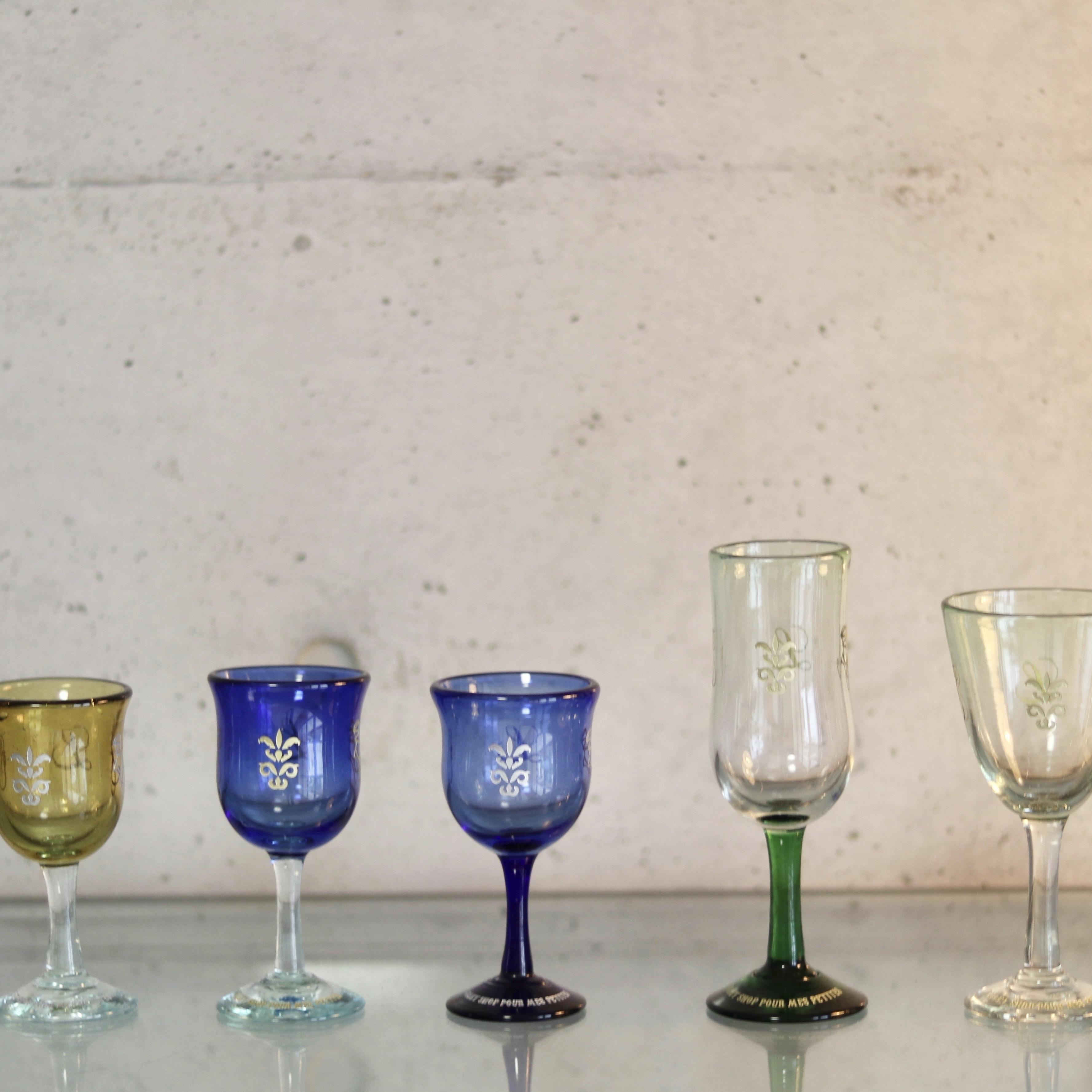 オリジナル琉球ガラス:ワイングラス エンブレム9