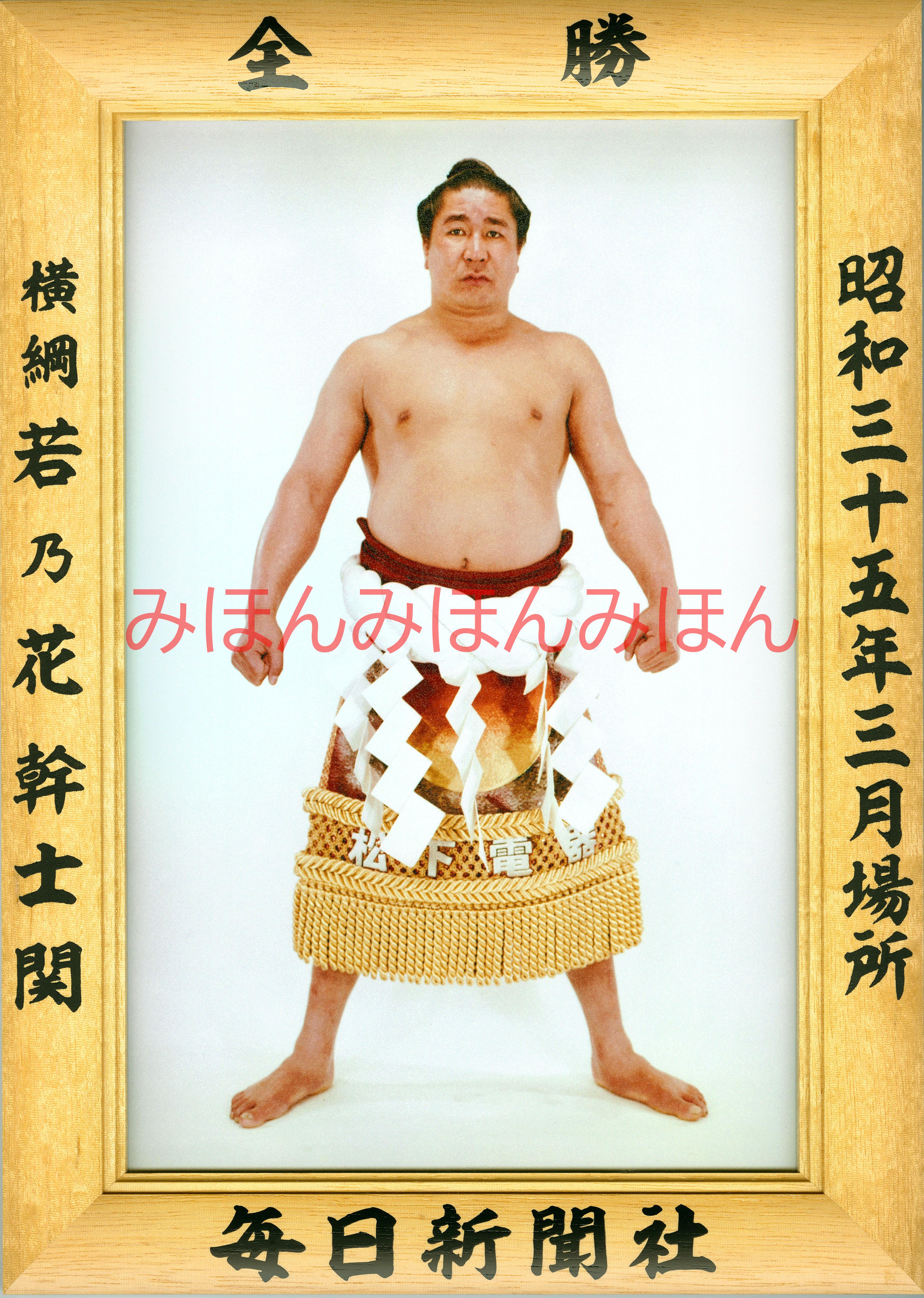 昭和35年3月場所全勝 横綱 若乃花幹士関(8回目の優勝)