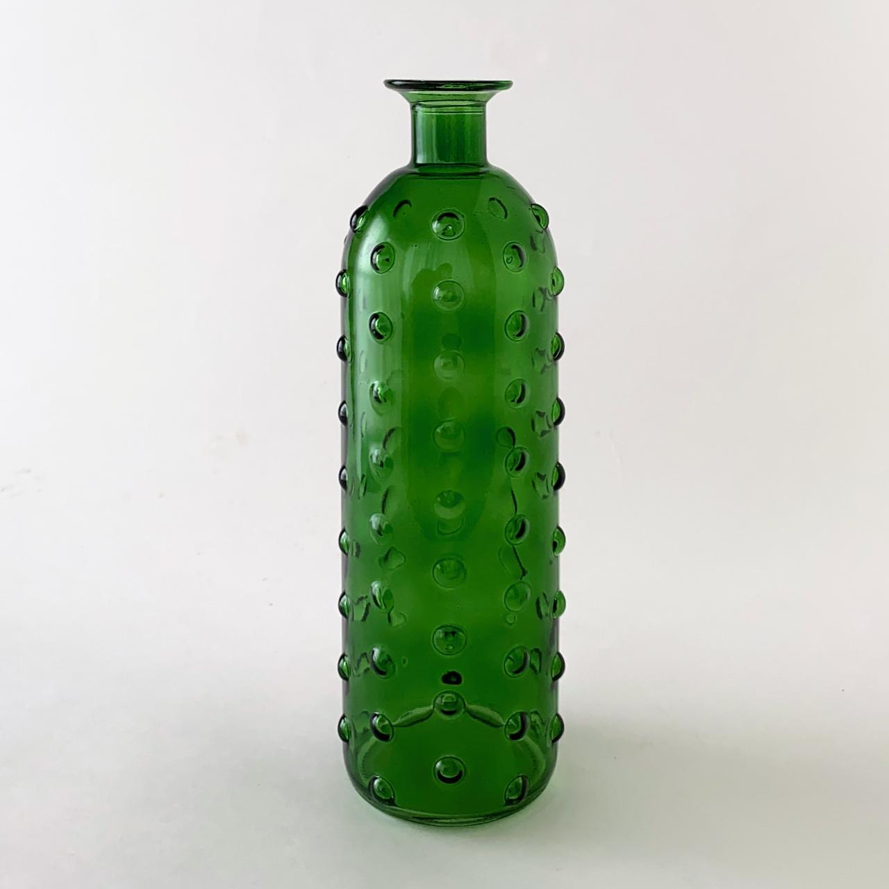 Bottle Bubble Green Vase|ボトル バブル グリーン フラワーベース