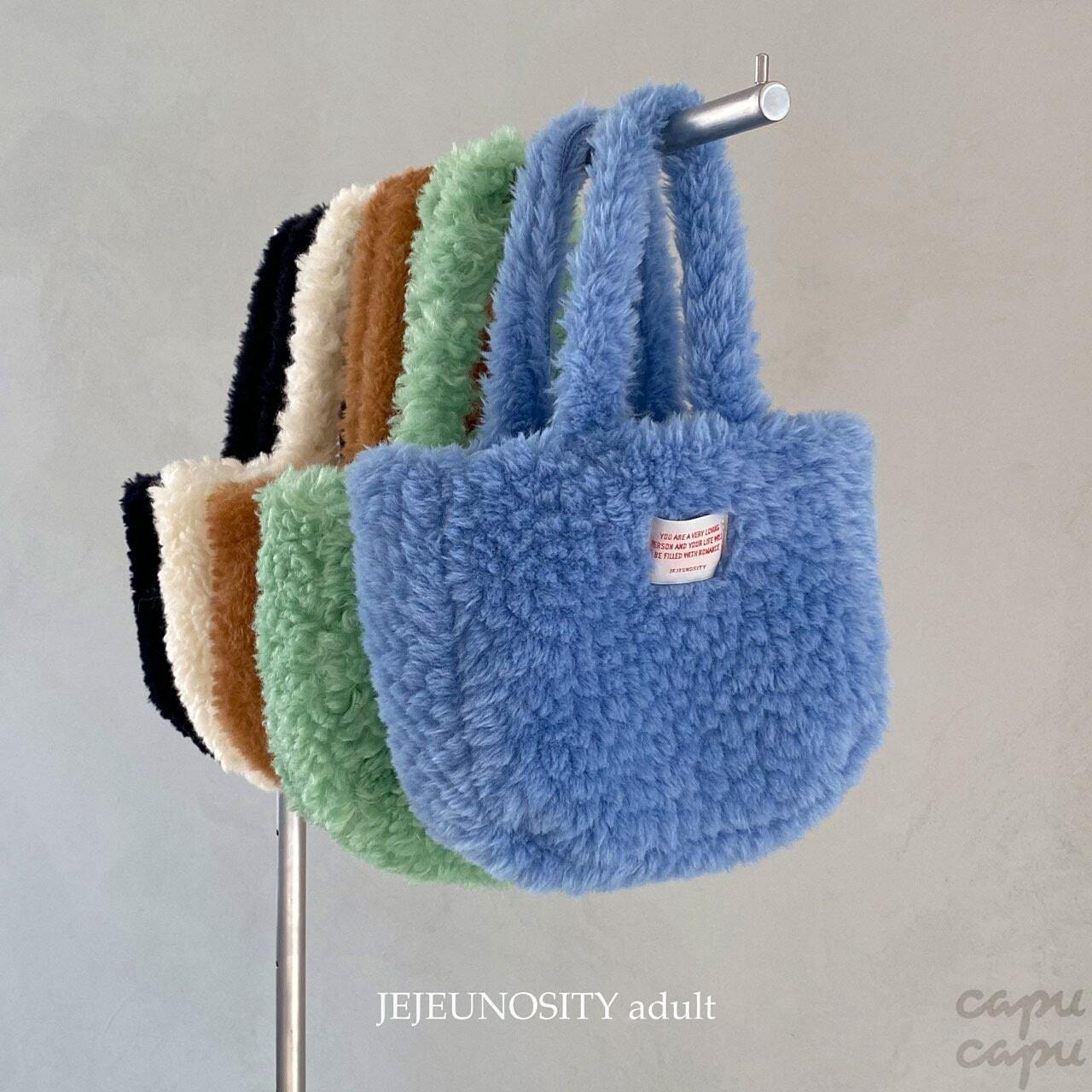 «先行予約割引» jejeunosity mokomoko bag 5colors もこもこバッグ
