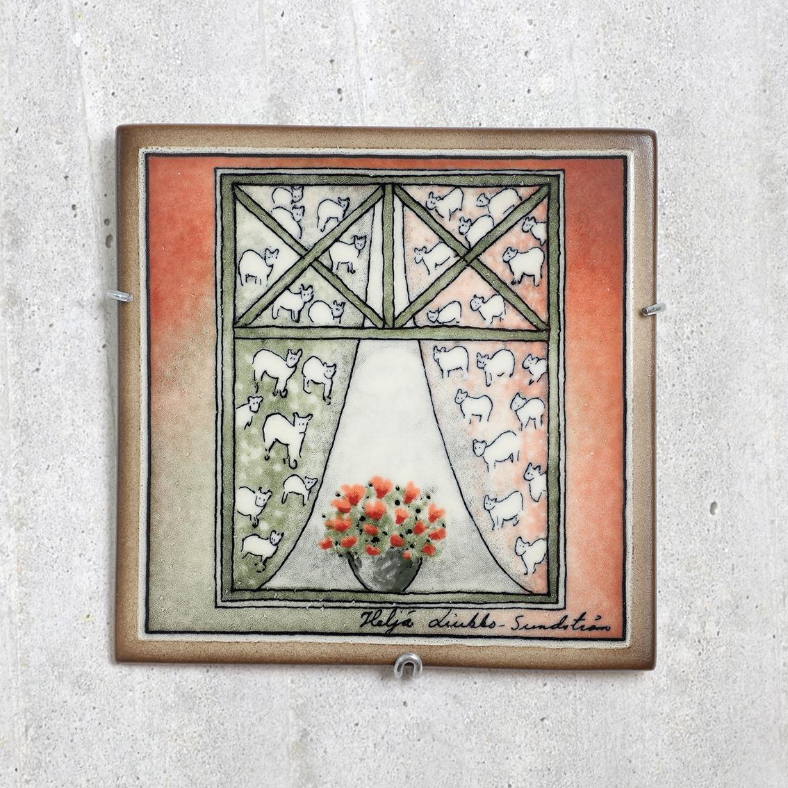 ARABIA アラビア Helja Liukko-Sundstrom ヘルヤ リウッコ スンドストロム 素敵な家の陶板(オリジナルBOX付) 北欧ヴィンテージ