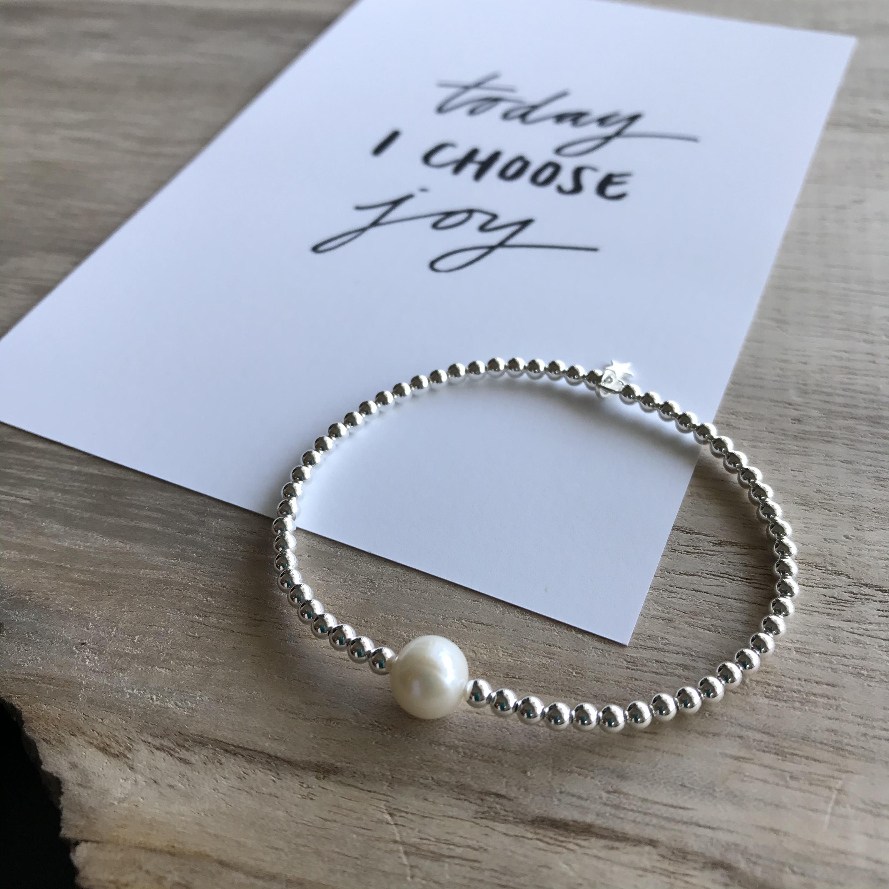 POINT PEARL  bracelet  / silver