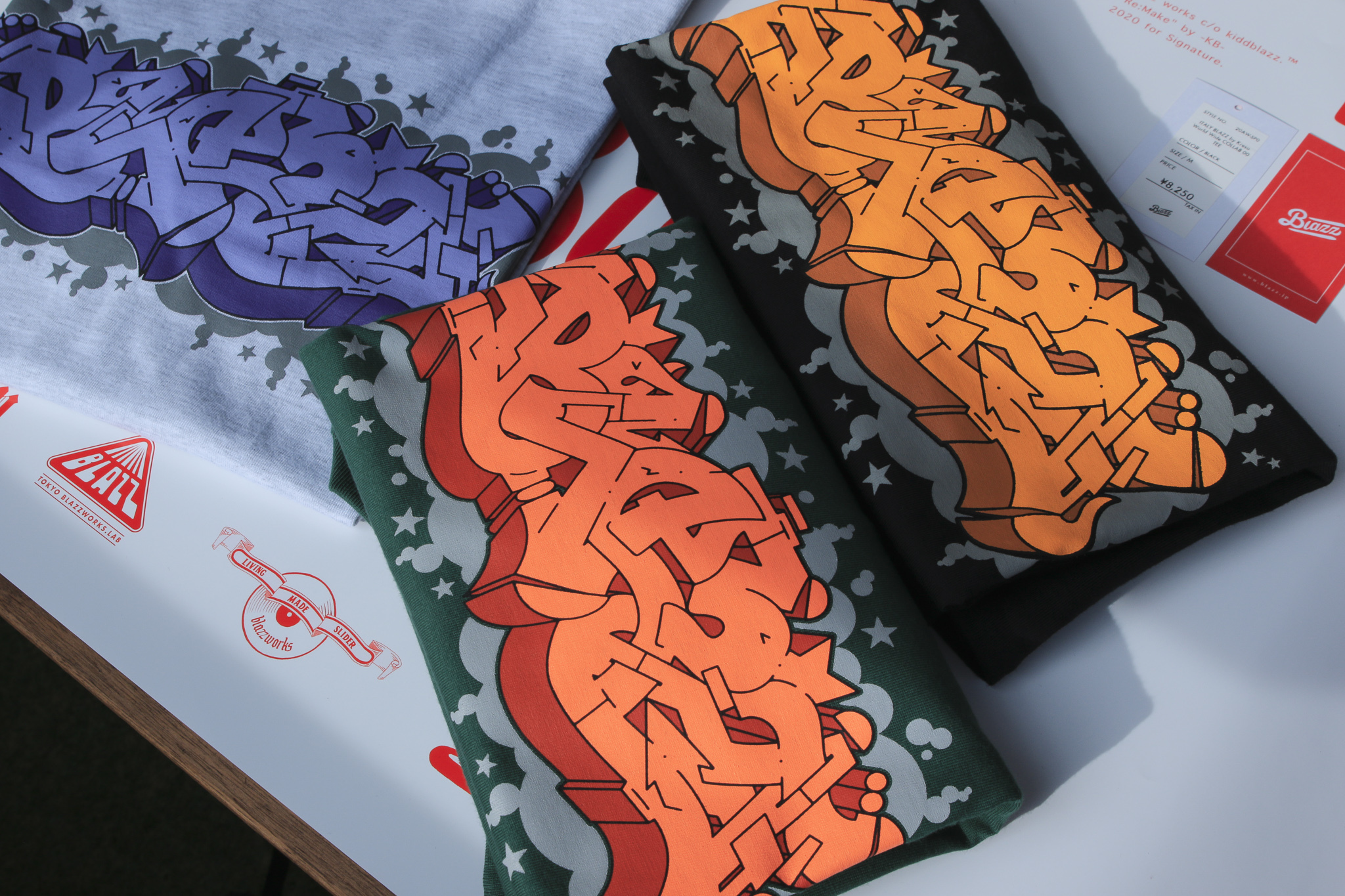 ITALY BLAZZ by Kreso World Wide COLLAB 00 TEE [ASH GRAY]