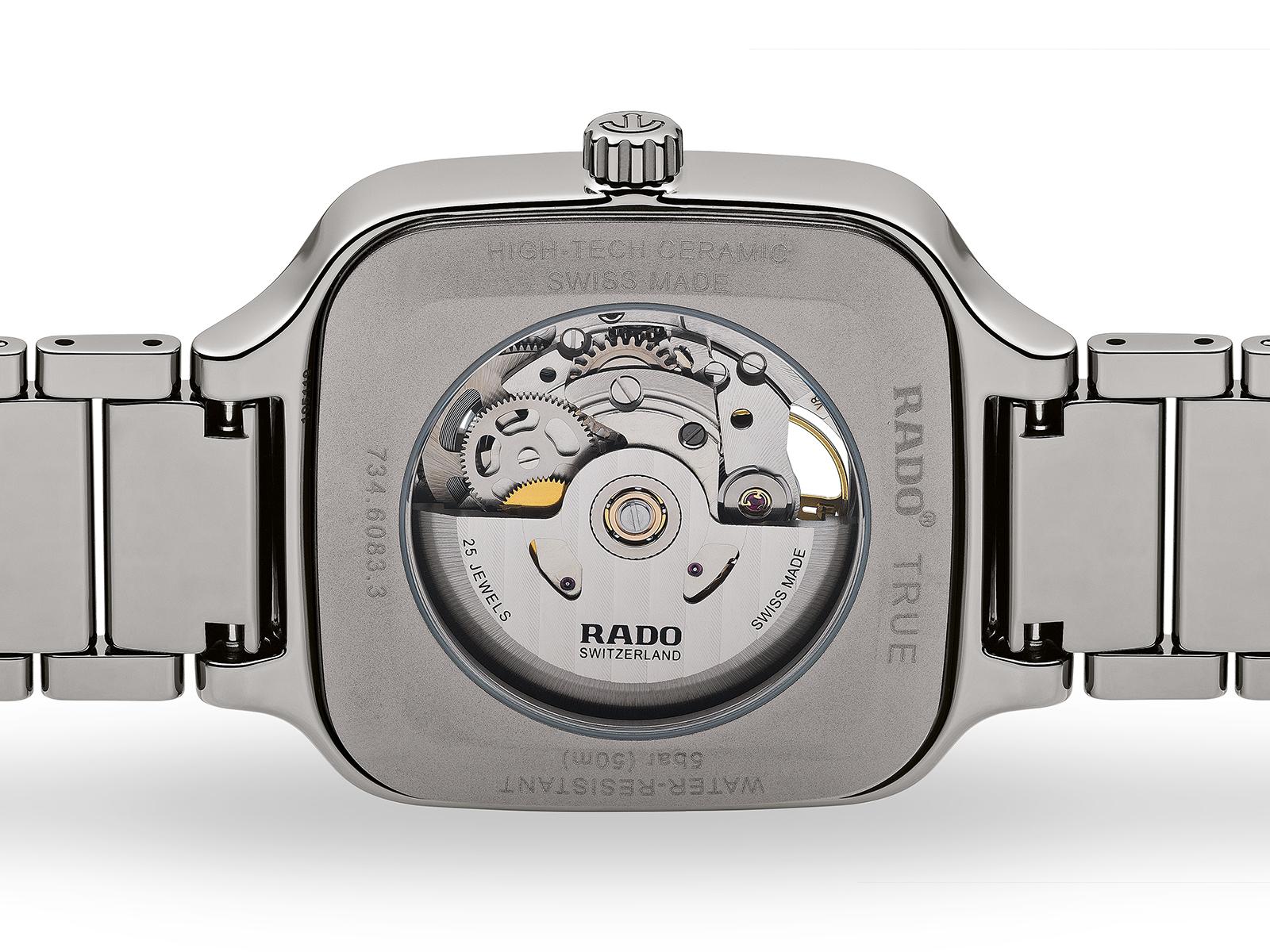 【RADO ラドー】True Square Automatic Open Heart トゥルースクエア オープンハート(ブルー)/正規輸入品