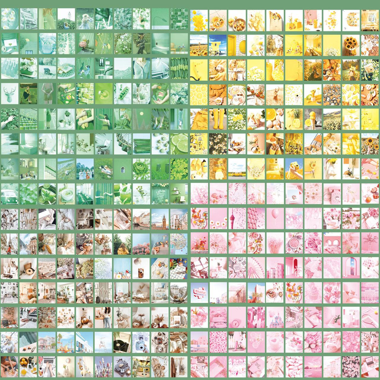 レトロ 素材紙 6種セット 硫酸紙 2400枚 紙もの コラージュ素材 海外 F02