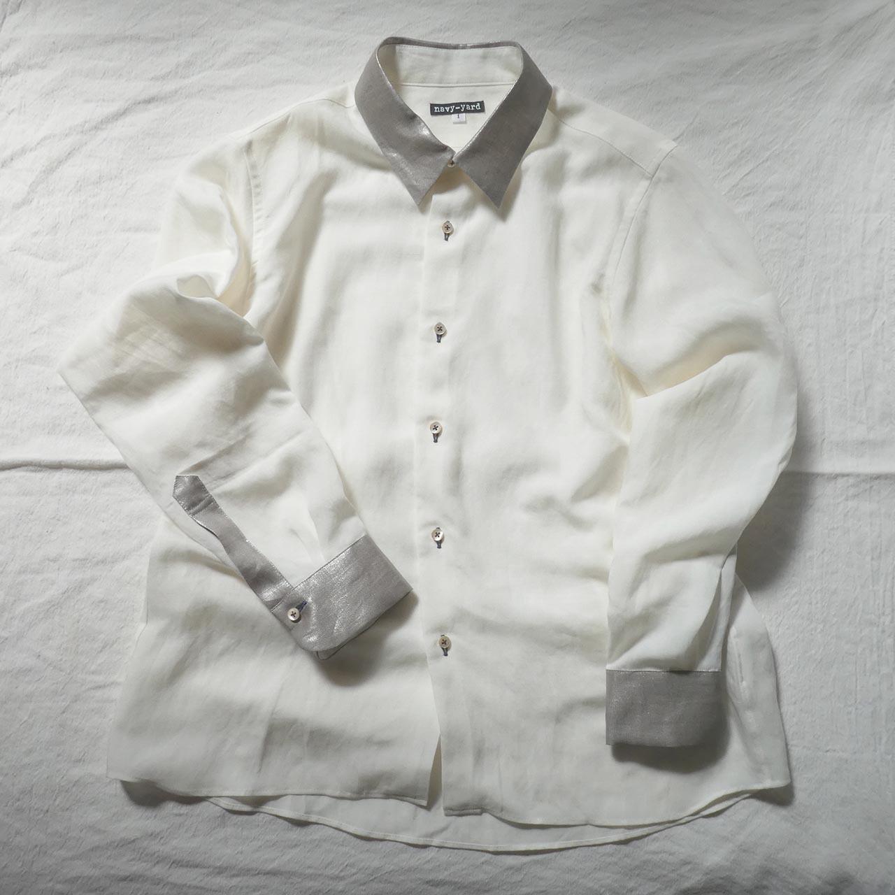 ☆SALE シルバークレリックシャツ  narrow