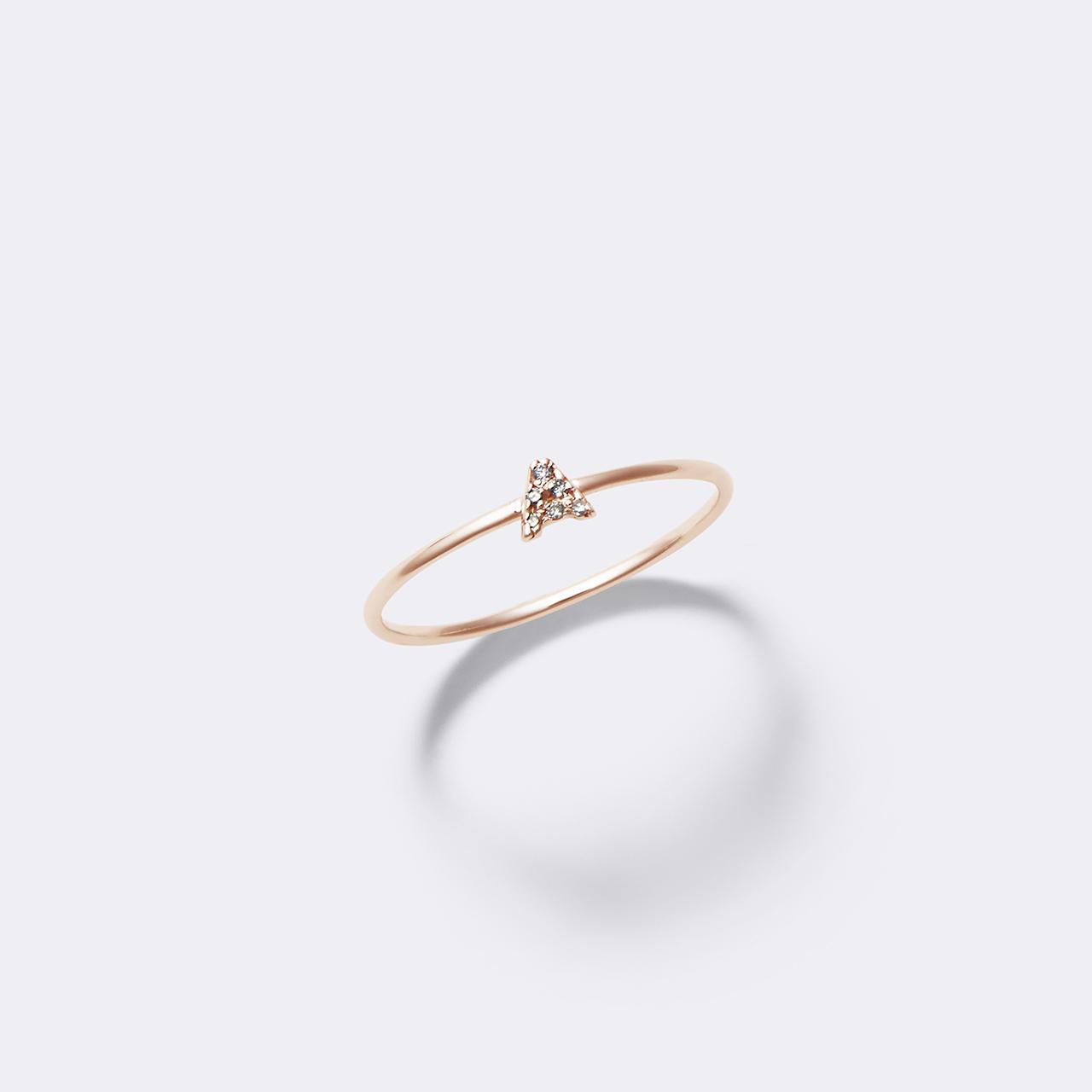 Initial Diamond Ring K10PG(イニシャルダイヤモンドリング K10ピンクゴールド)