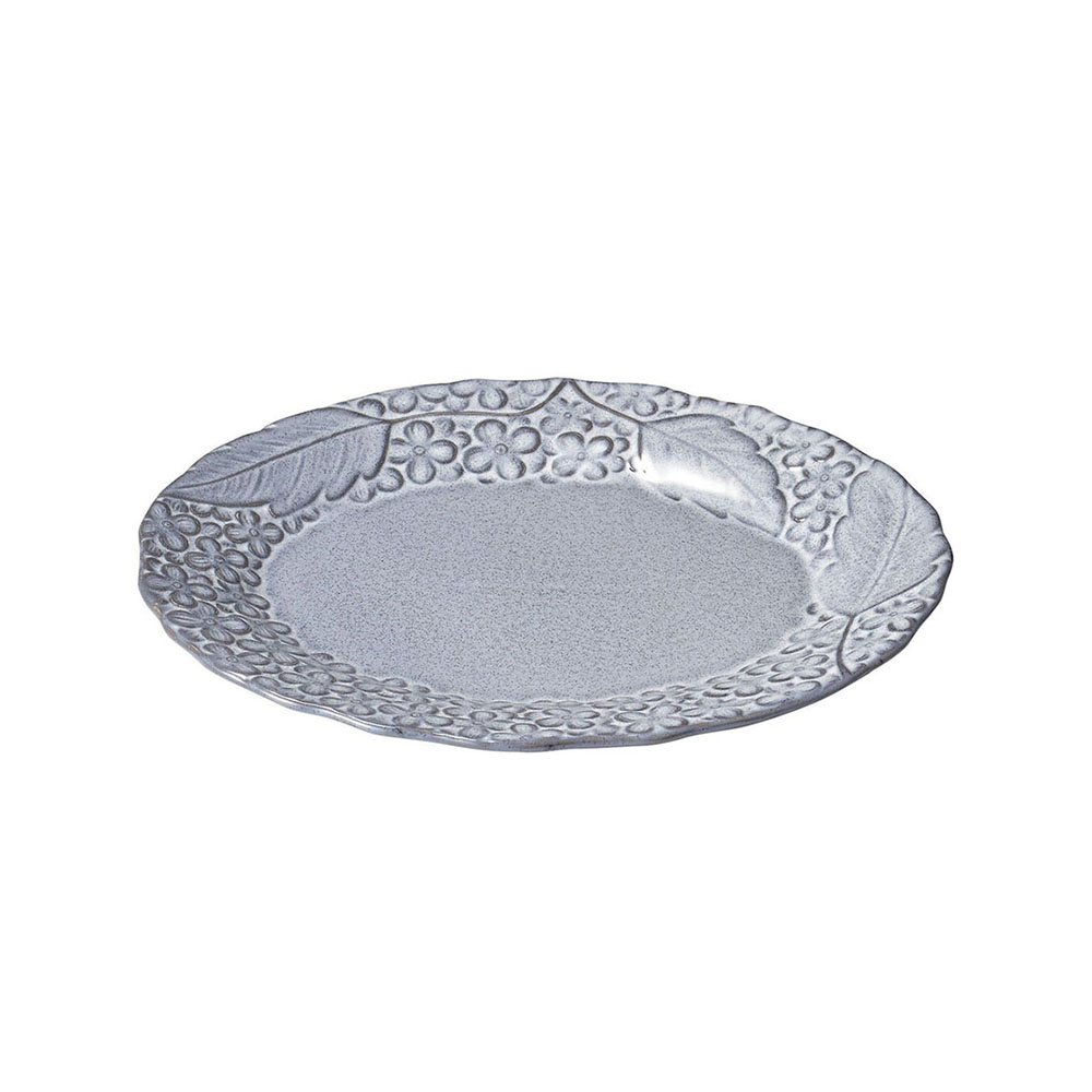 aito製作所 「リアン Lien」オーバルプレート 皿 約25×20cm グレー 美濃焼 267832
