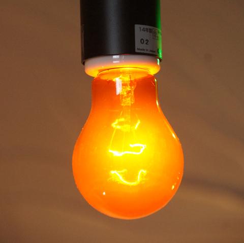 E26 40W 透明カラーランプ オレンジ(白熱電球)※電球のみ