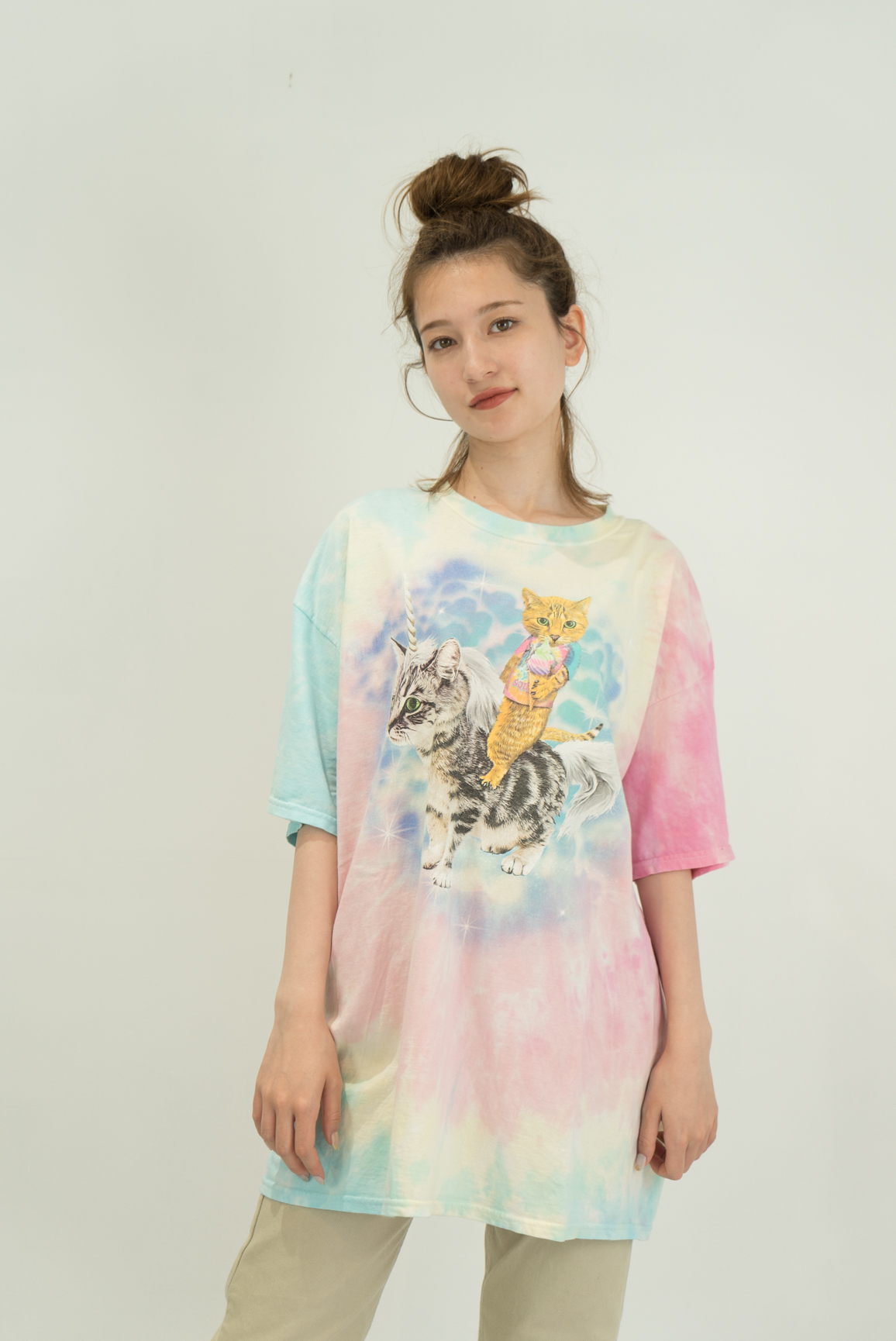 ◼︎00s unicorn × ice-cream cats T-shirts from U.S.A.◼︎