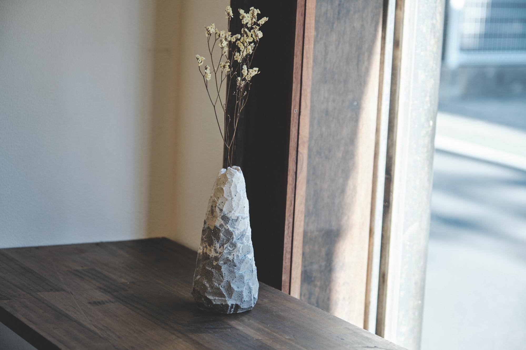 【Stonelike-m5】大きめの一輪挿し【送料無料】
