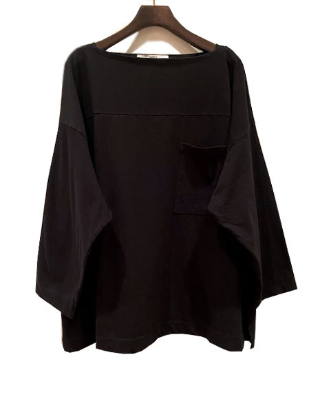pelleq   [TWISTED COTTON OVERSIZED POCKET T]