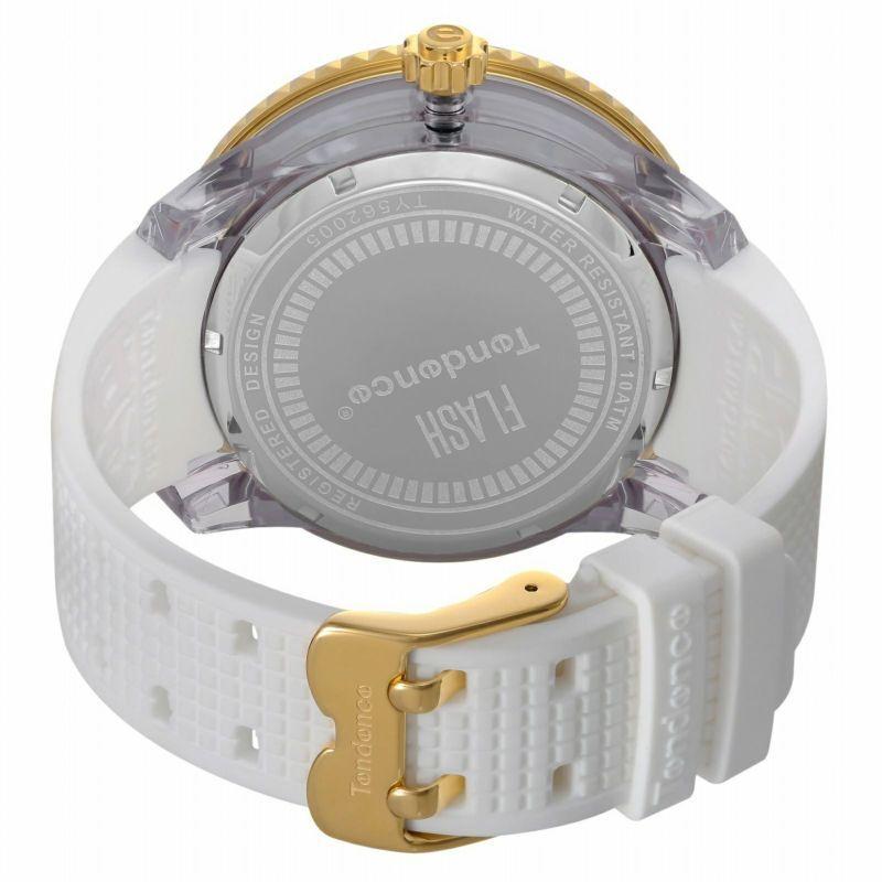 【Tendence テンデンス】TY562005  FLASHフラッシュ(ホワイト×イエローゴールド)/国内正規品 腕時計