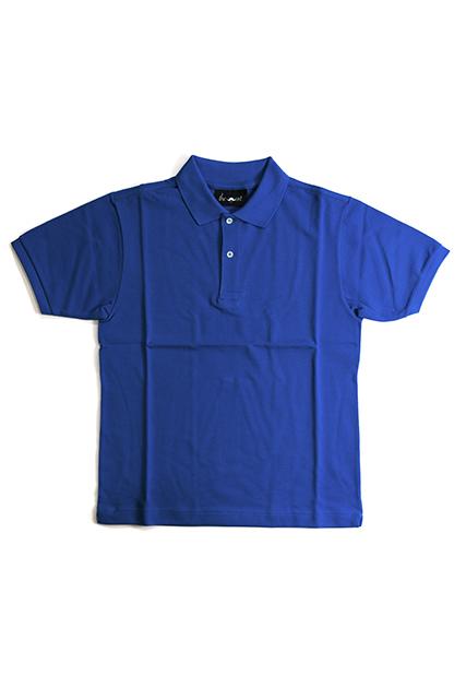 《Made in France》オリジナル 半袖 鹿の子ポロシャツ 2つ釦 〈ロイヤル〉