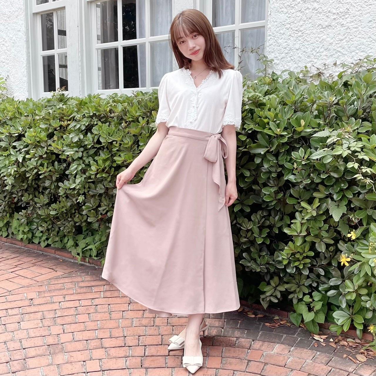 【Fluffy】サイドリボンスカート