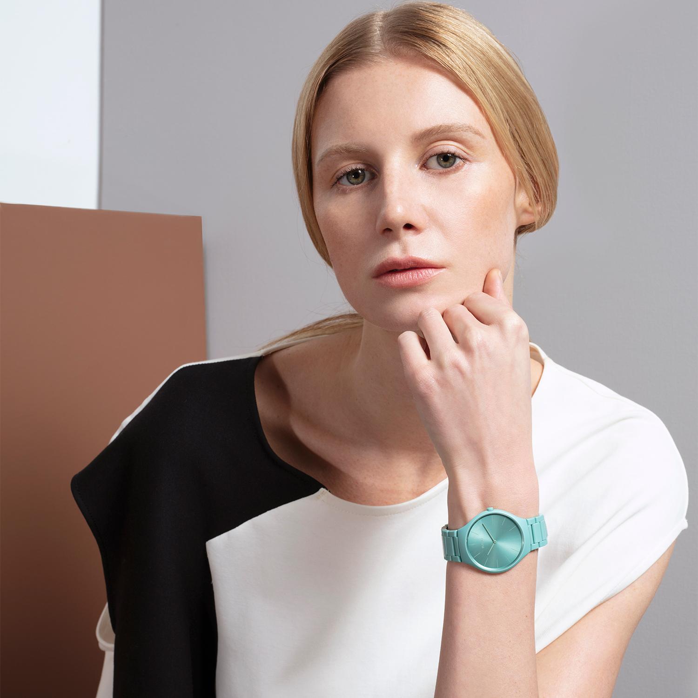 【RADO ラドー】True Thinline Les Couleurs™ Le Corbusier  Slightly greyed English green 32041 シンライン ル・コルビュジエ(グリーン)/国内正規品 腕時計