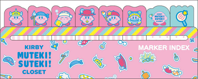 星のカービィ KIRBY MUTEKI! SUTEKI! CLOSET マーカーインデックス (1) ピンク /  エンスカイ