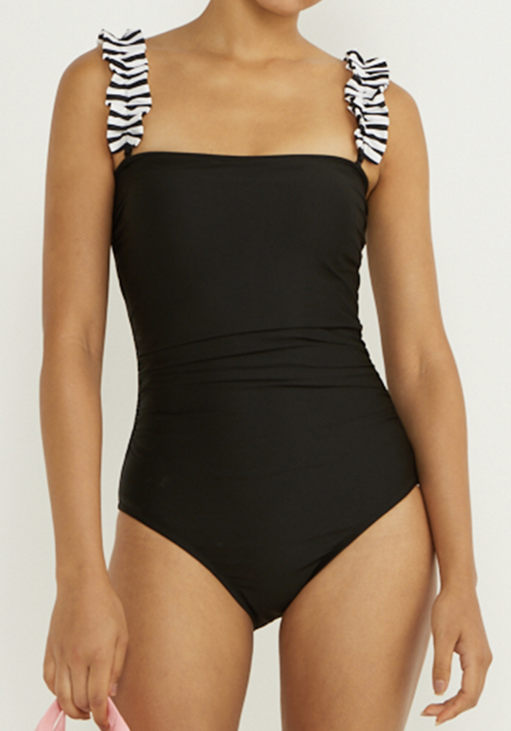 BORDERS at BALCONY  STRAPPED SWIMSUIT