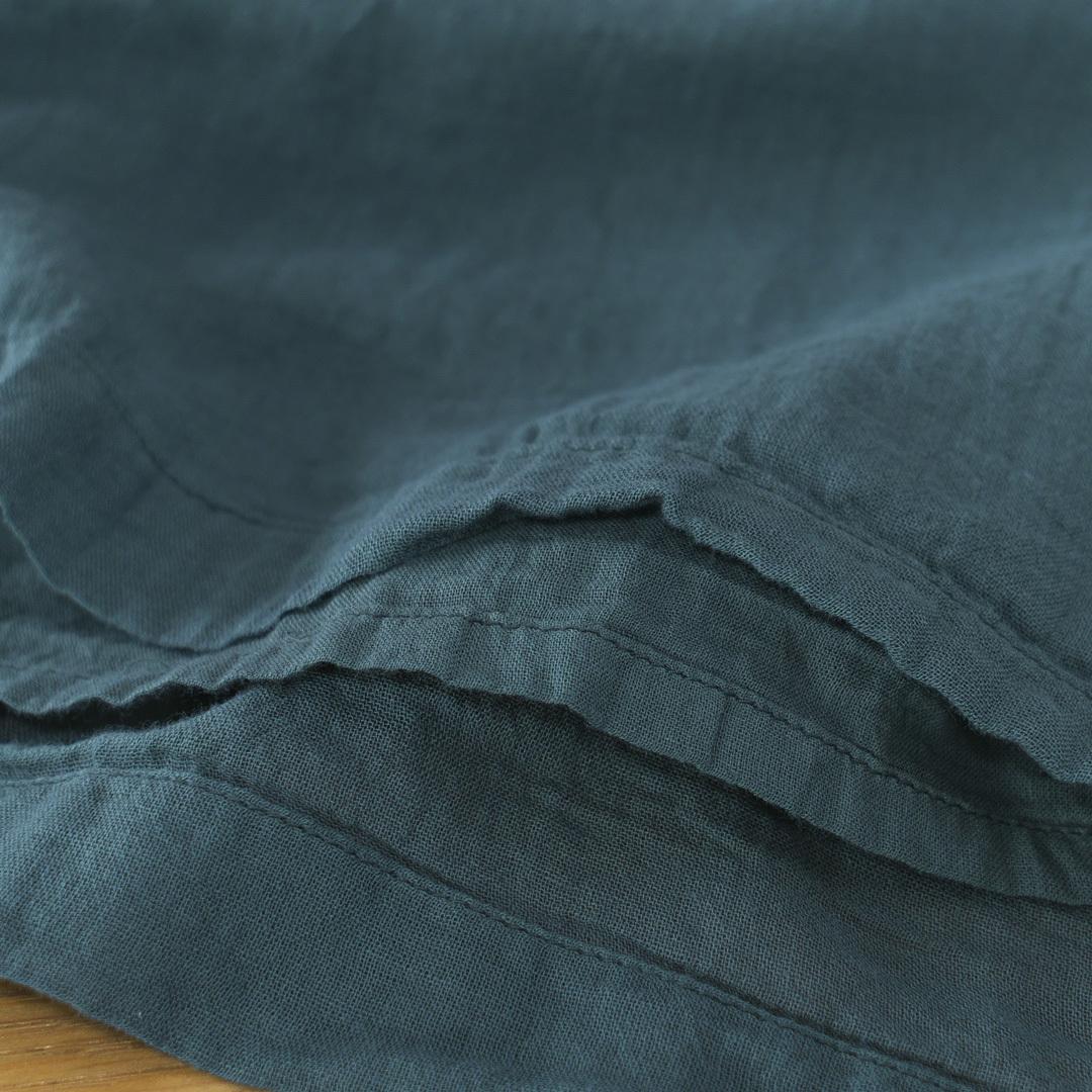 ARMEN アーメン 後染めユーティリティーイージーギャザースカート・4560:ダークグリーン:サイズ1