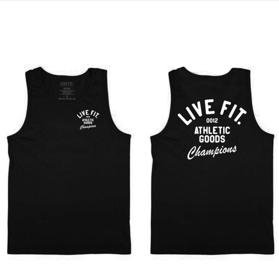 LIVE FIT Athletic Goods Tank - Black