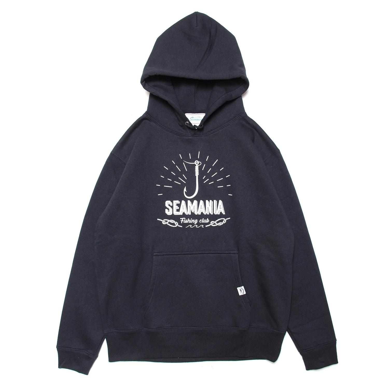 【Seamania】フックモチーフプルパーカー [ネイビー]