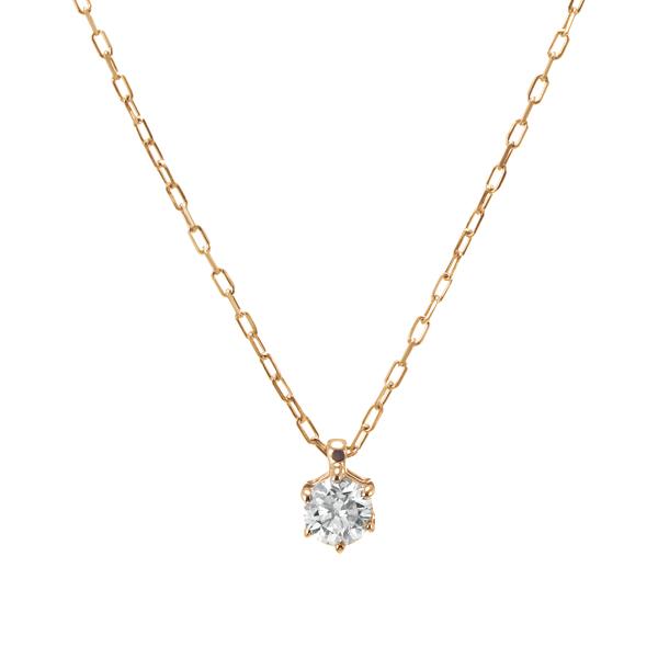 K10YGダイヤモンドネックレス 020201009207