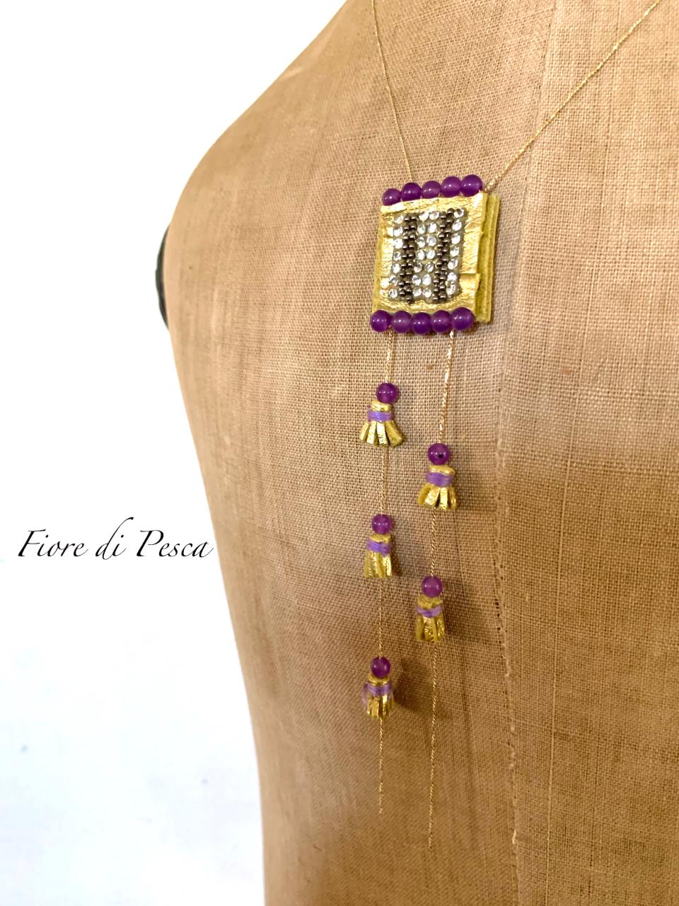 Beatrice Tassel Necklace (purple)