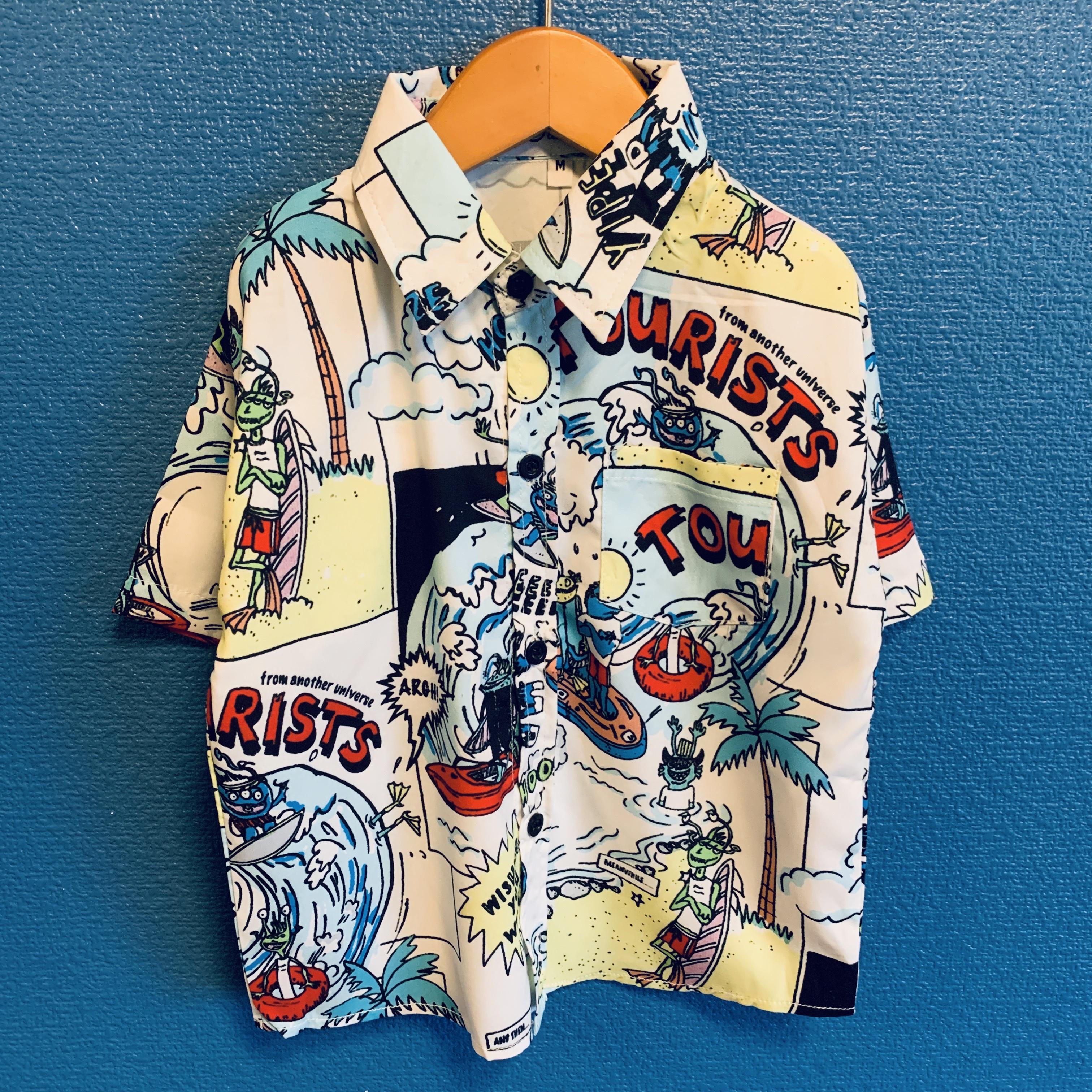 モンスターサーフィンのキッズアロハシャツ