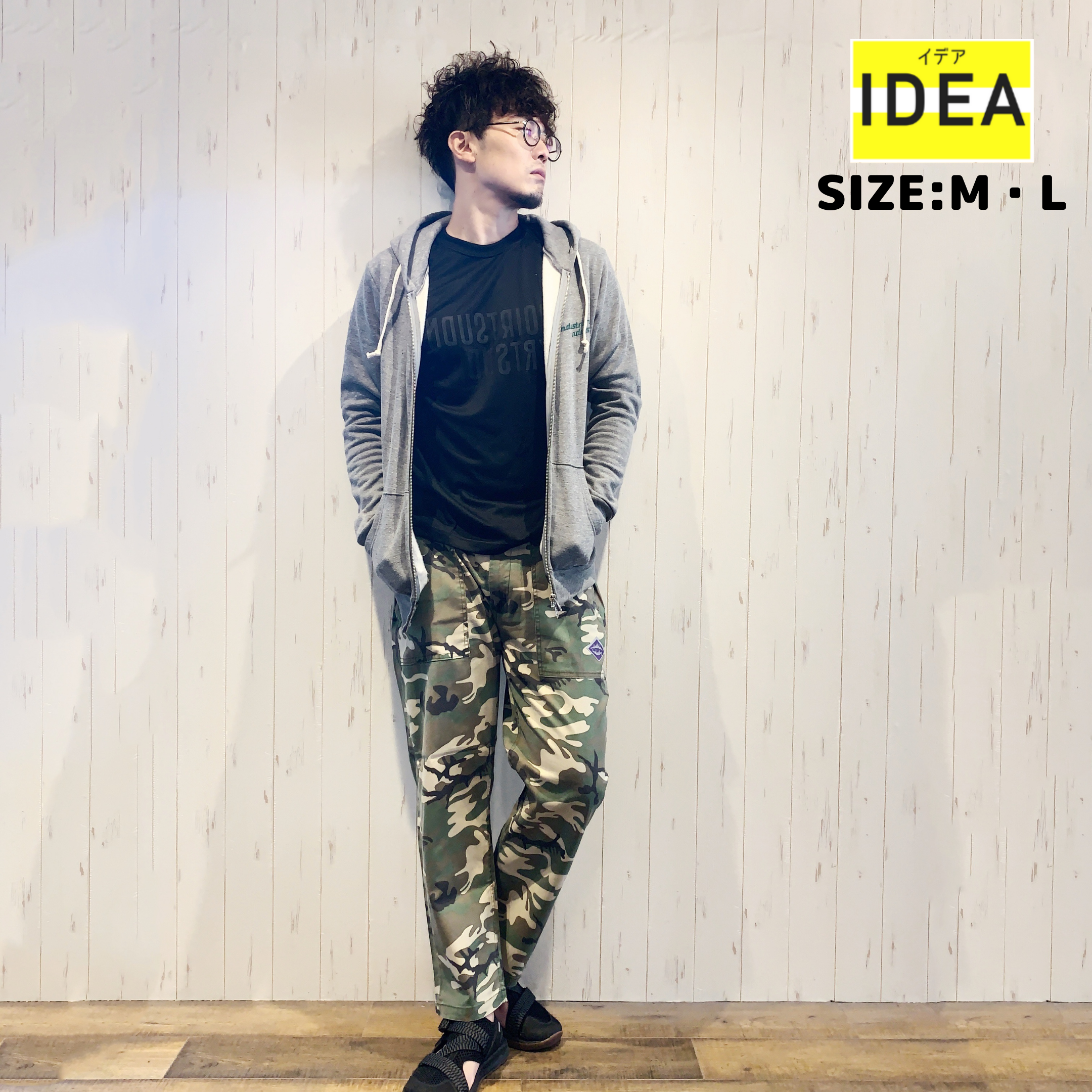 【IDEA】BK CAMO PANTS