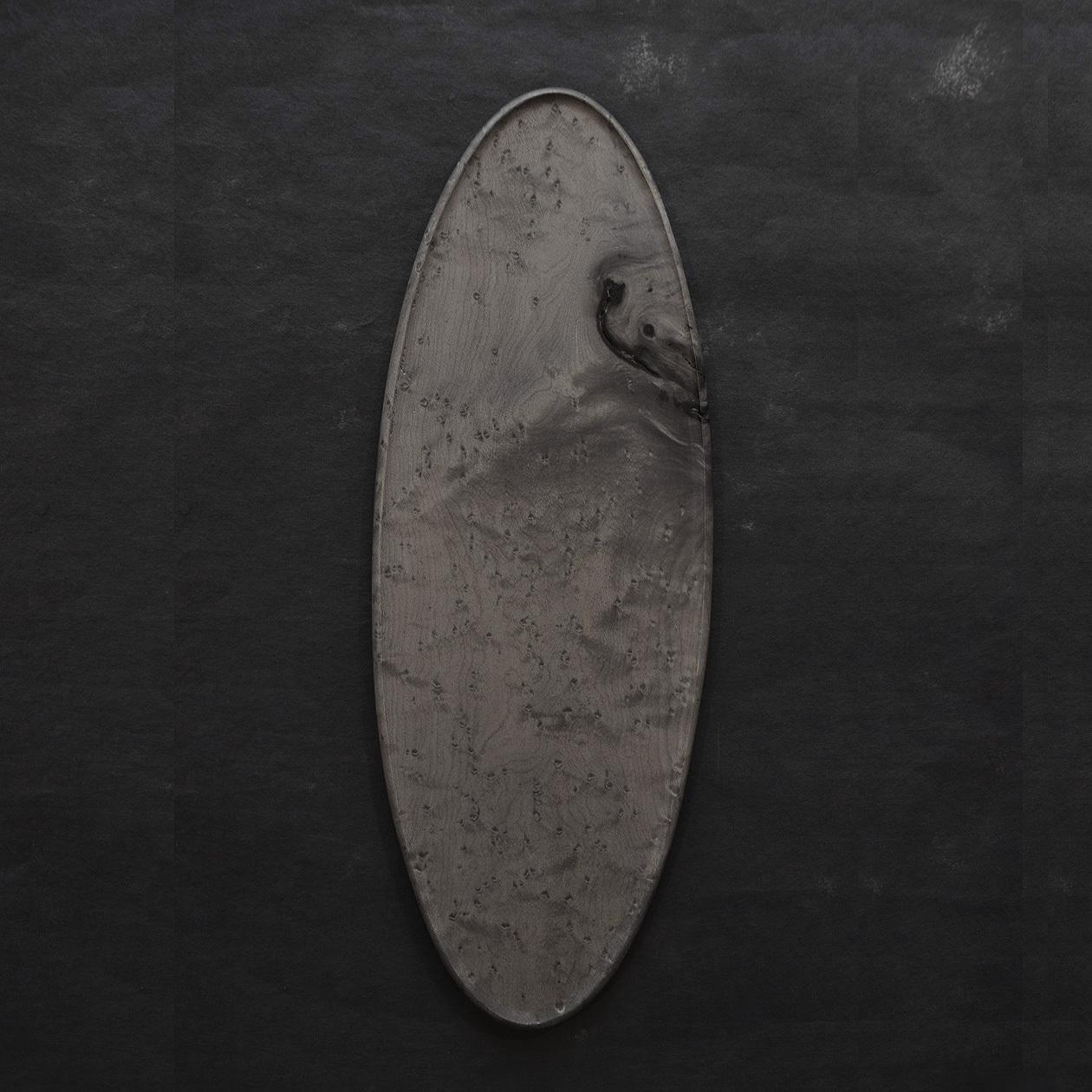 北山栄太 Eita Kitayama  オーバルプレート バーズアイメイプル A (鉄媒染+ガラスコーティング)