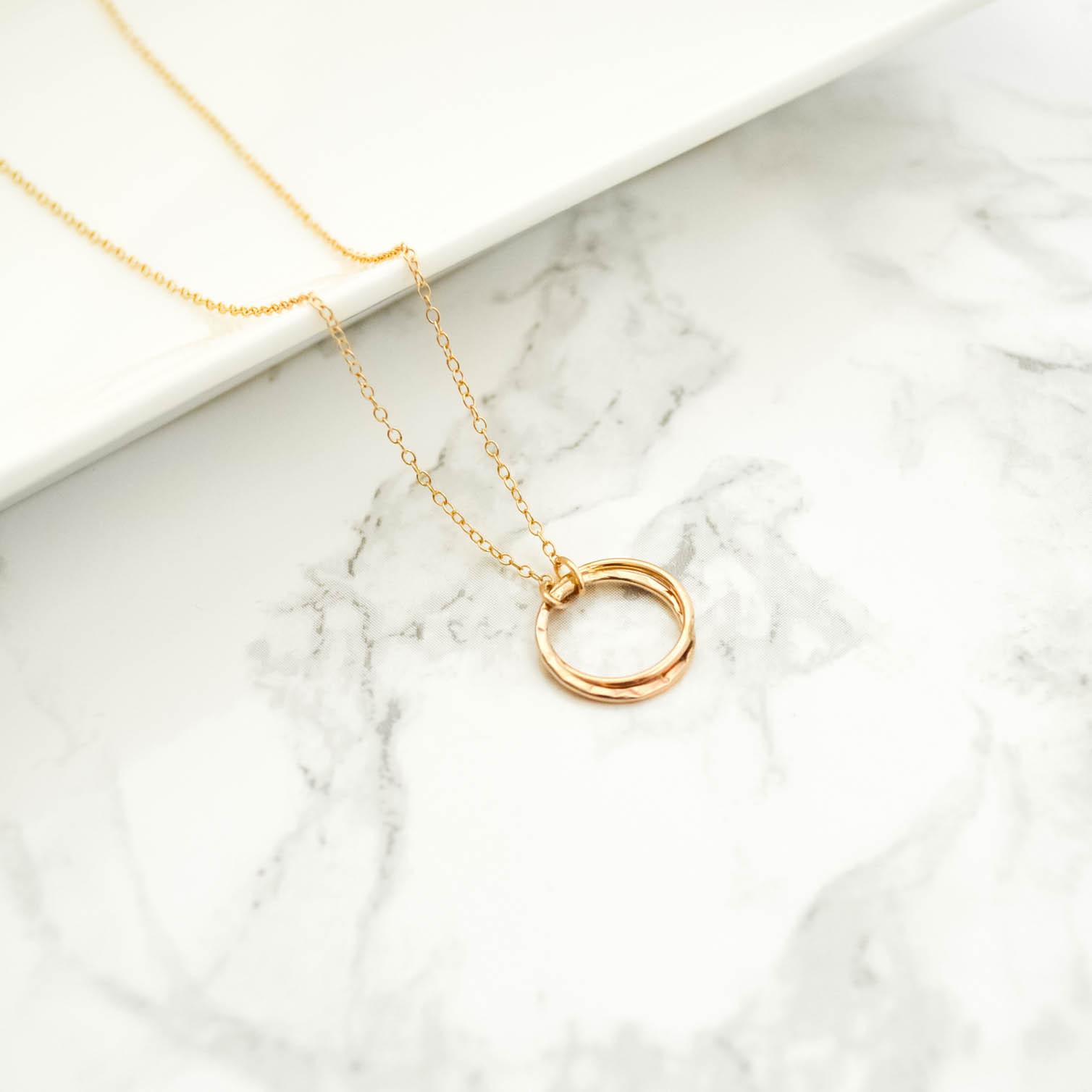14kgf Tsuchime circle Necklace
