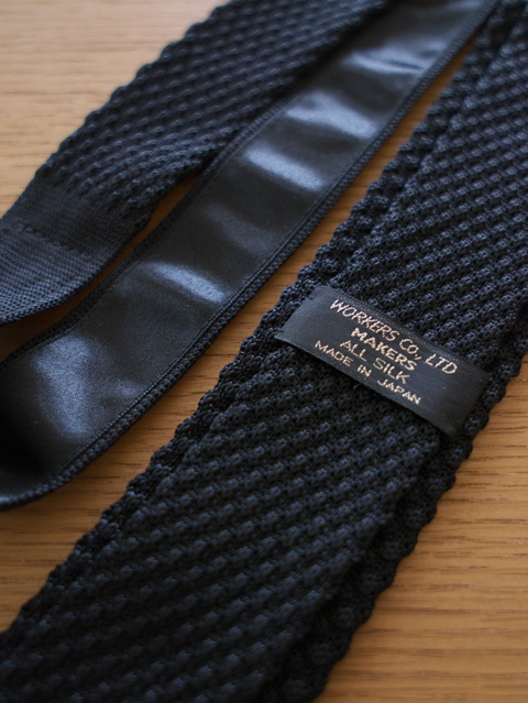 WORKERS ワーカーズ Silk Knit Tie シルクニットネクタイ