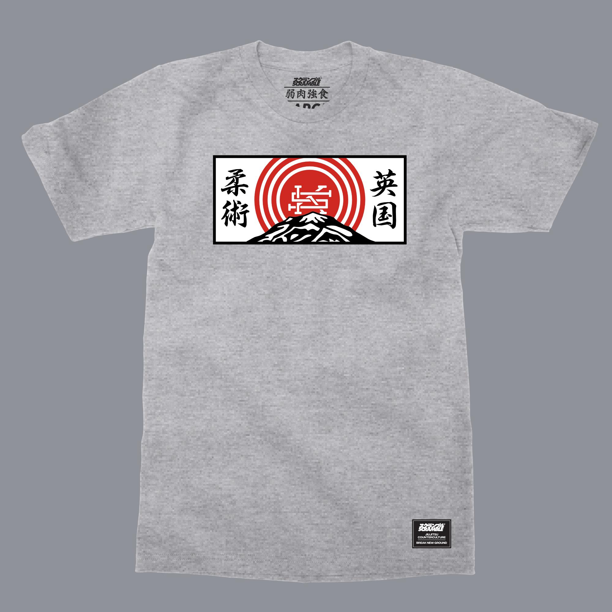 SCRAMBLE MOUNTAIN T-SHIRT グレイ|格闘技 柔術Tシャツ