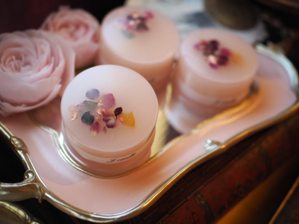 flower aroma candle 【vanilla】
