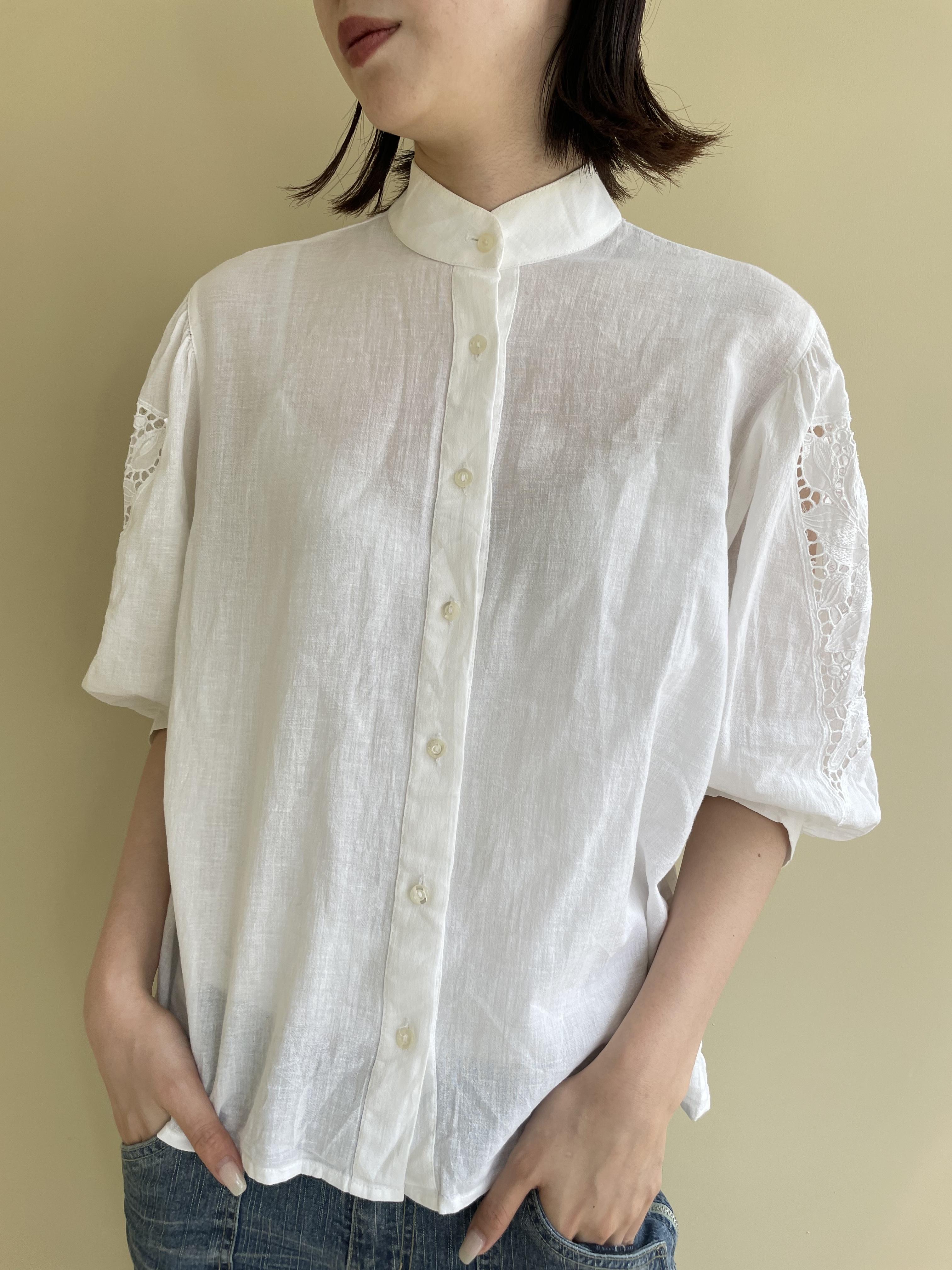 puff sleeve design shirt / 7SSTP17-10