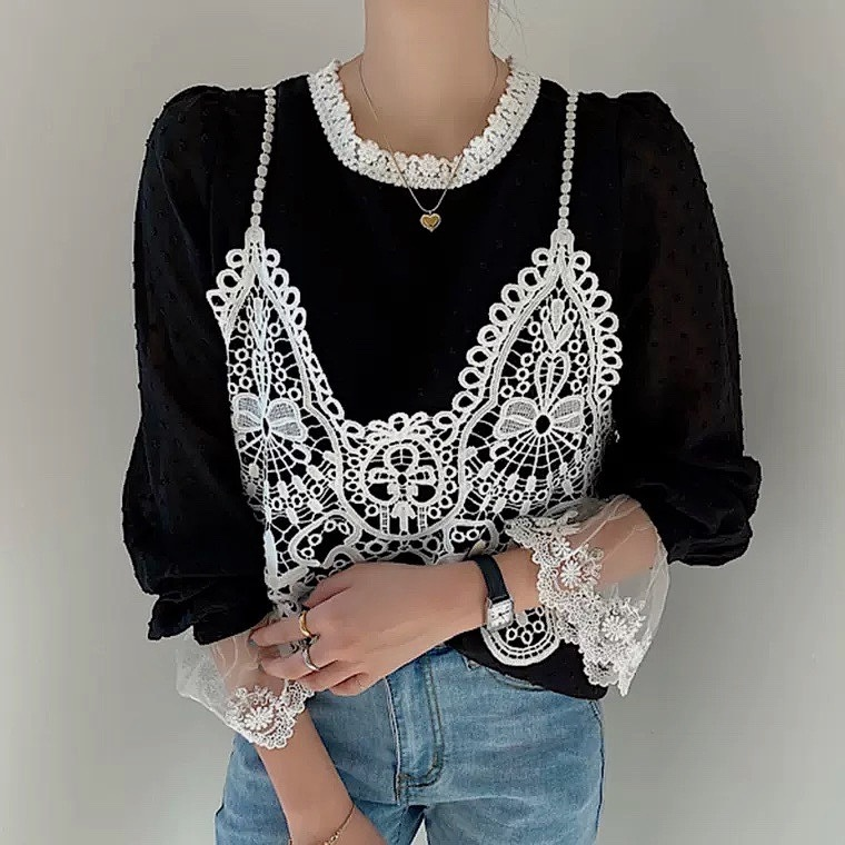 lace camisole tops 2color