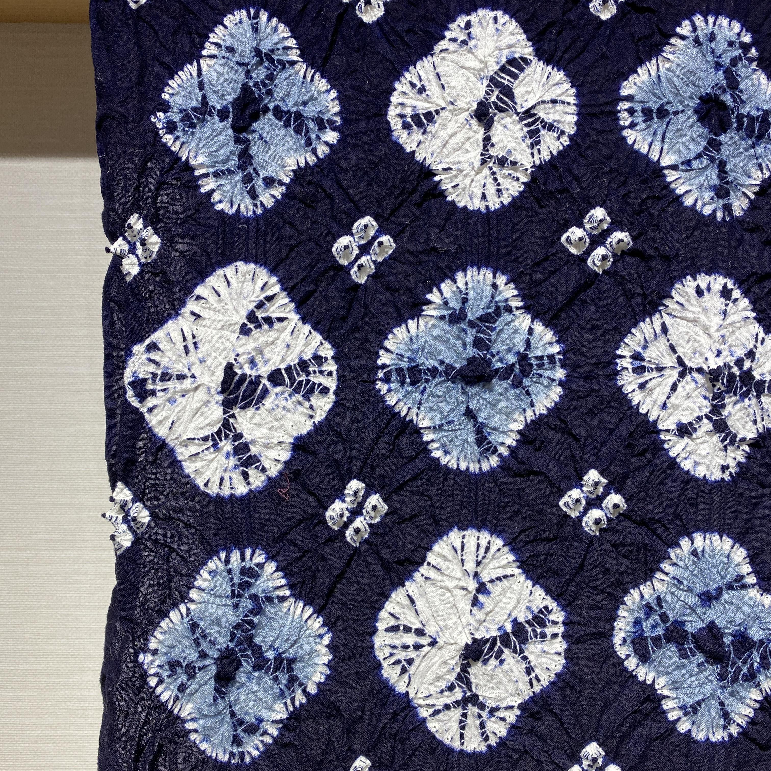 【誂え品】伝統的工芸品 有松絞り浴衣 藍小花 *お仕立代込