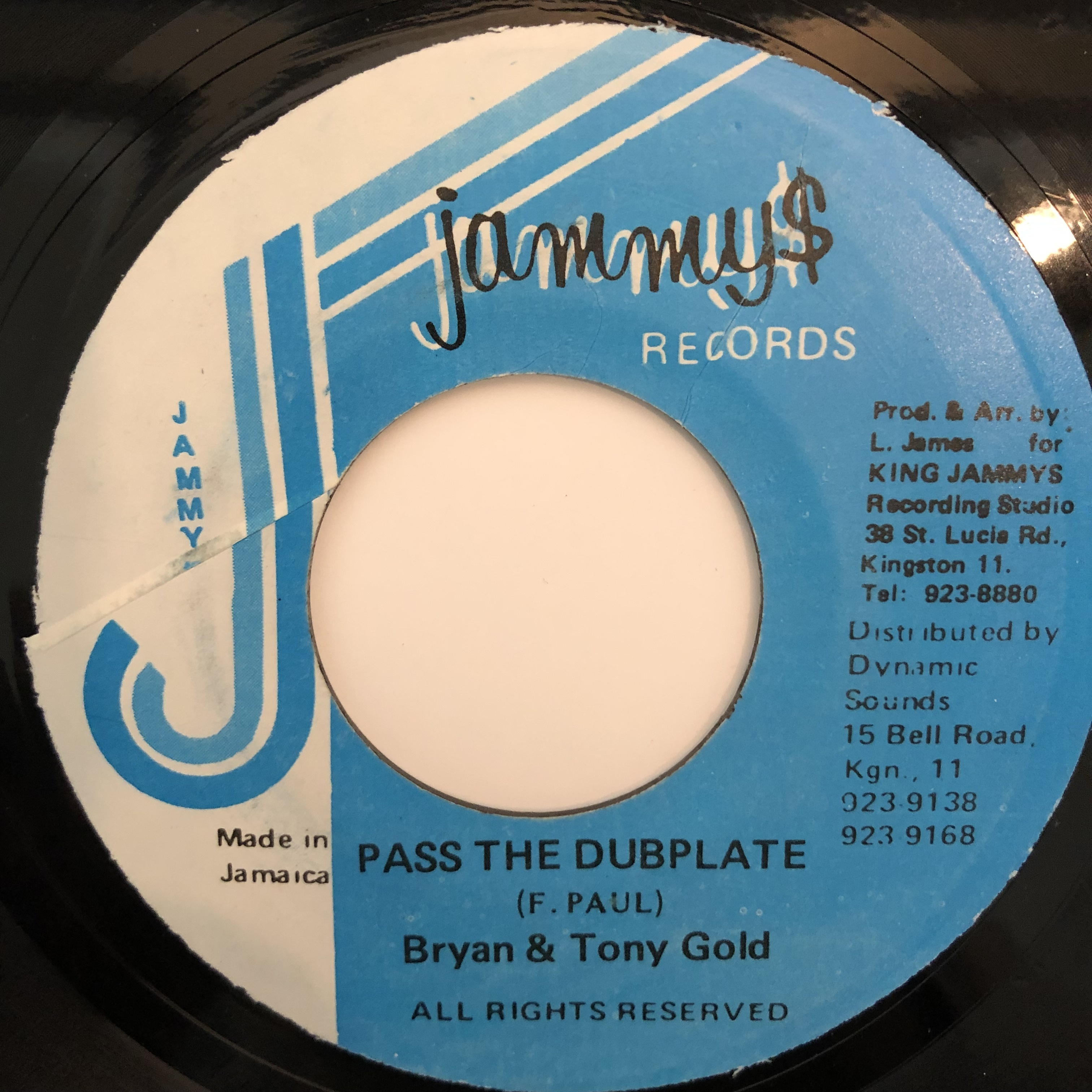 Brian & Tony Gold - Pass The Dubplate【7-20312】
