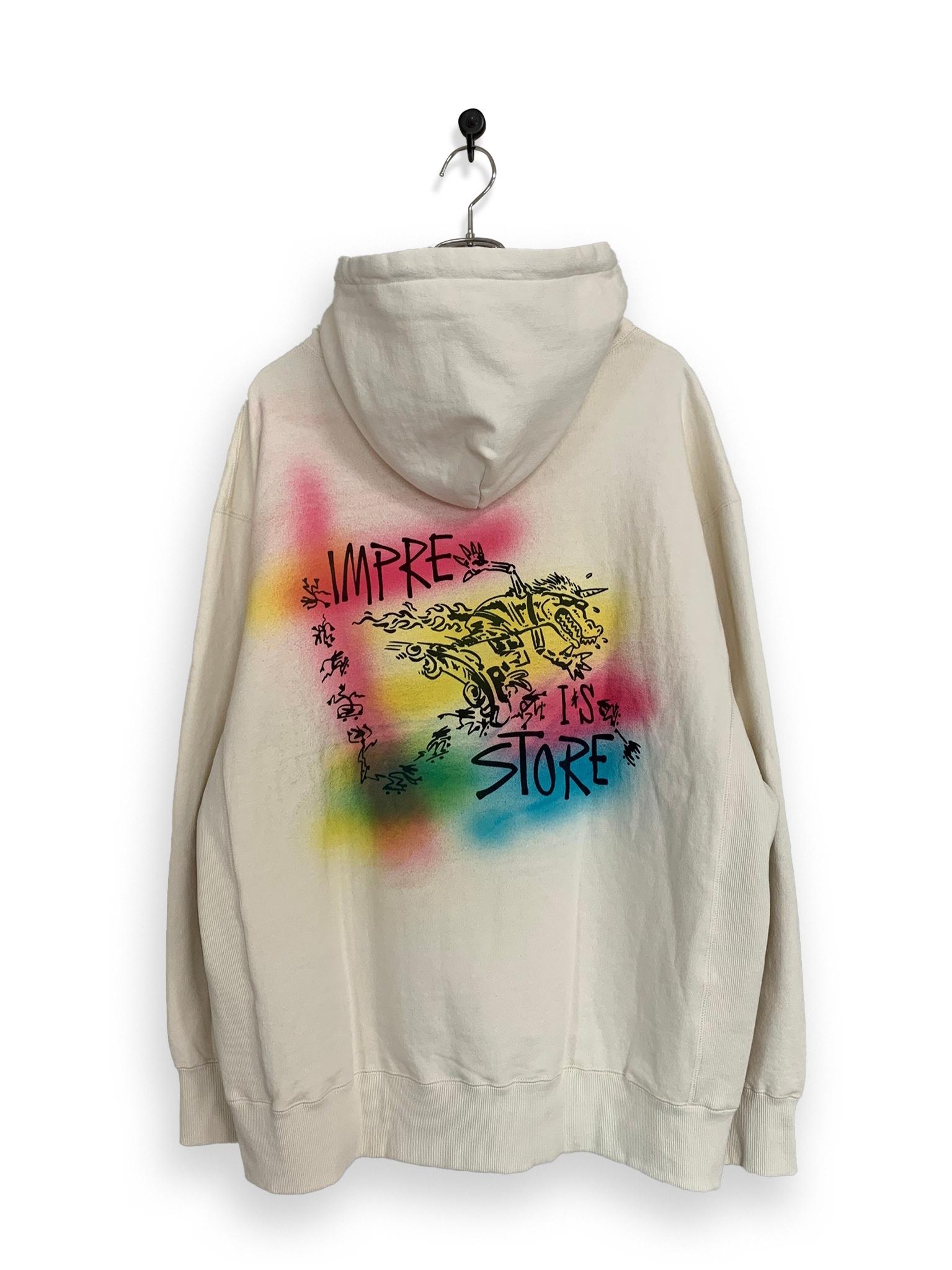 Original Hooded Sweatshirt / air brush / white