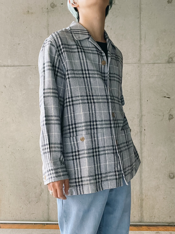 (OT309)BURBERY Wool checked jacket