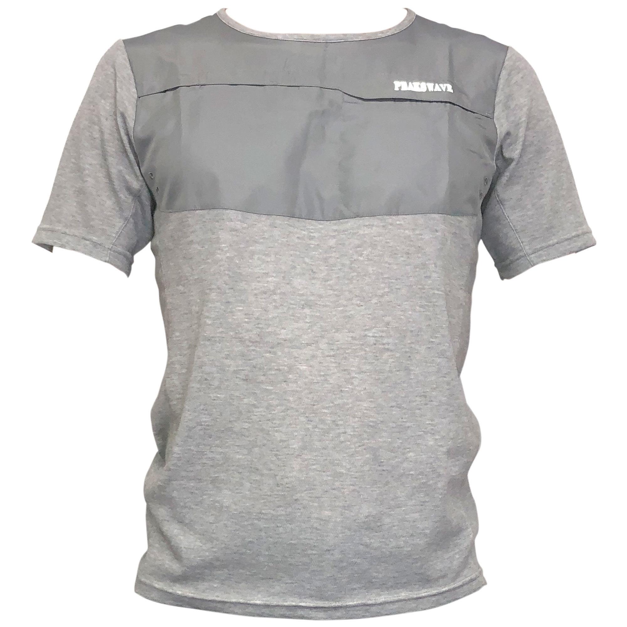 【期間限定2021年8月末まで】P818TSM20 吸水速乾 UV メンズハイブリッドTシャツ(グレー)