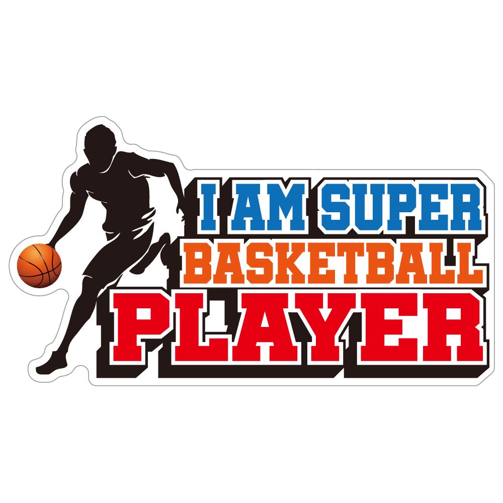 "238 Super BASKETBALL Player ""California Market Center"" アメリカンステッカー スーツケース シール"