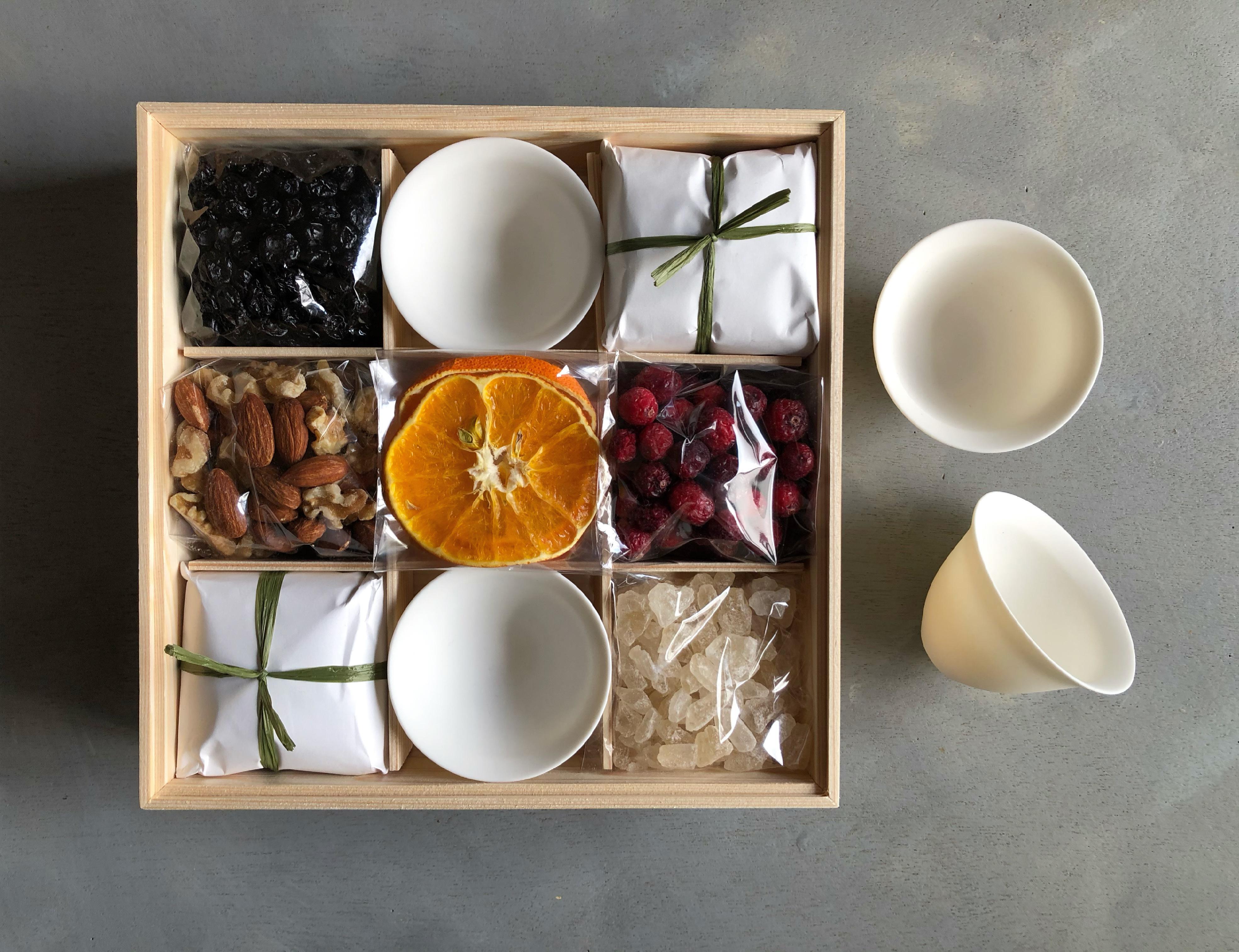 野草茶と木の実_霖